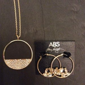 INC NECKLACE & ABS EARRINGS